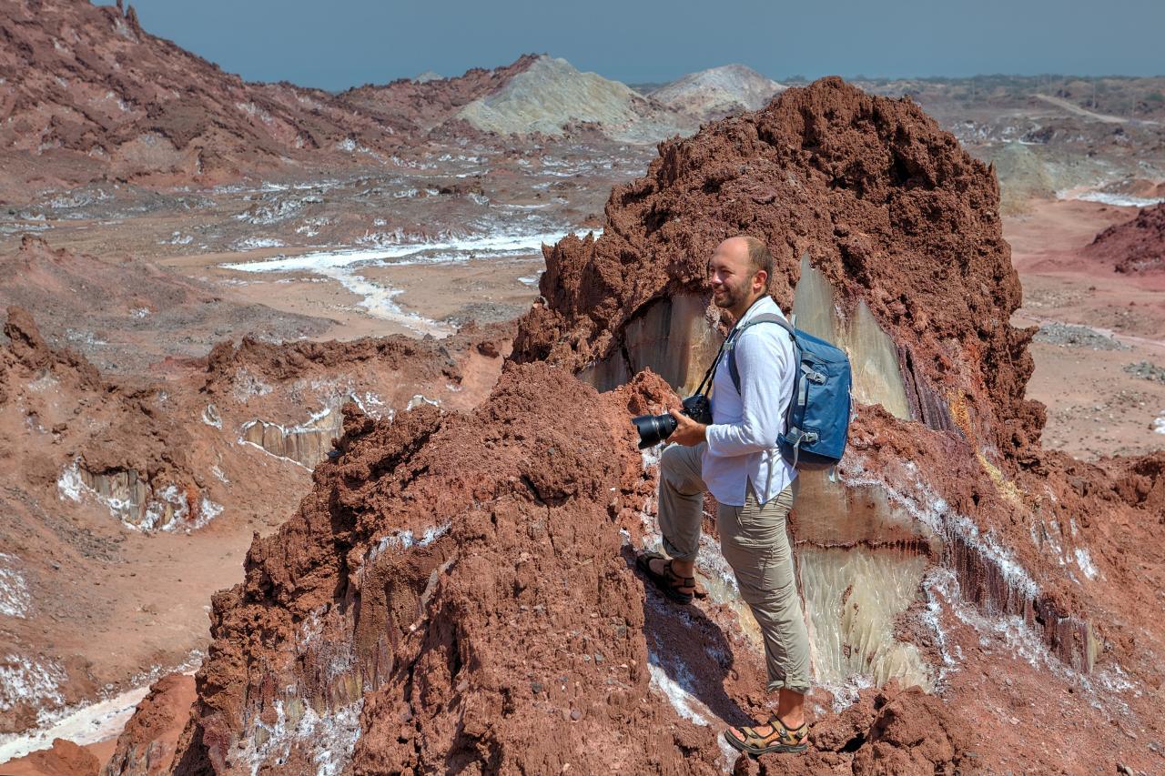 Salty Cave in Qeshm